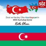 1991 yılında bağımsızlığını ilan eden kardeş ülke can Azerbaycan'ın Milli Kurtuluş Günü kutlu olsun!